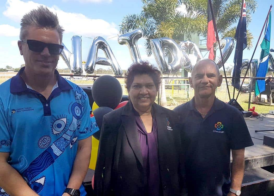 Tony and 2 colleagues at an event