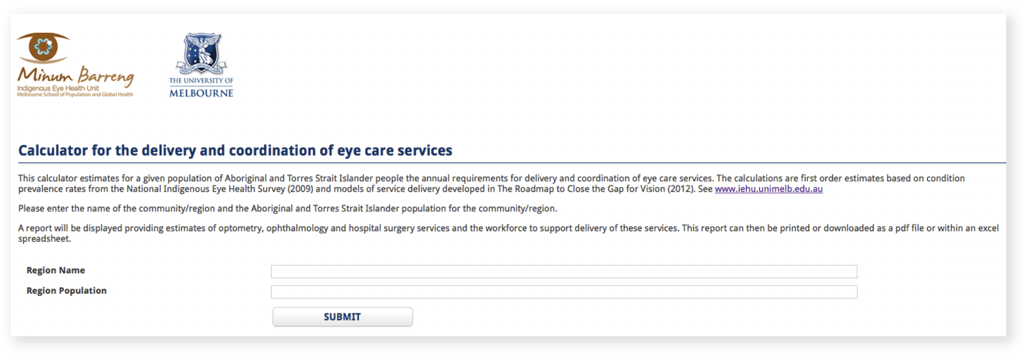 ieh service care calculator