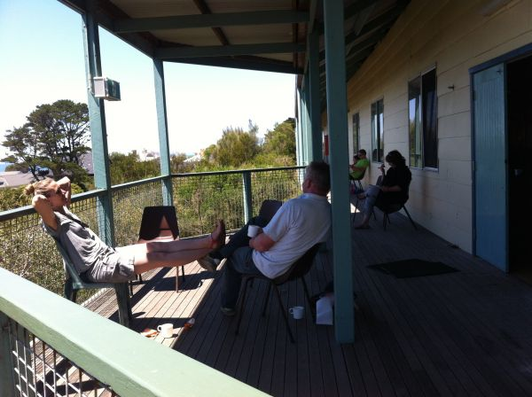 Bushfire community Support - Grown-ups Getaway at Portsea 2013 ... very busy, doing nothing!