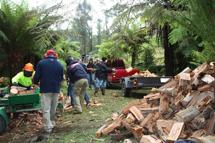 Community on Ground Assistance working with fire affected families across Victoria working with corporate volunteers