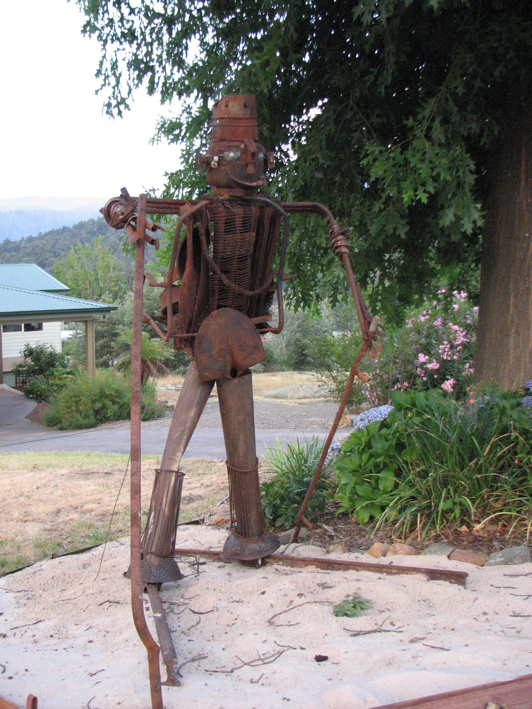Statue made from Marysville Fire Relics