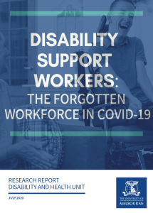 Cover of Research Report on DSWs and COVID-19