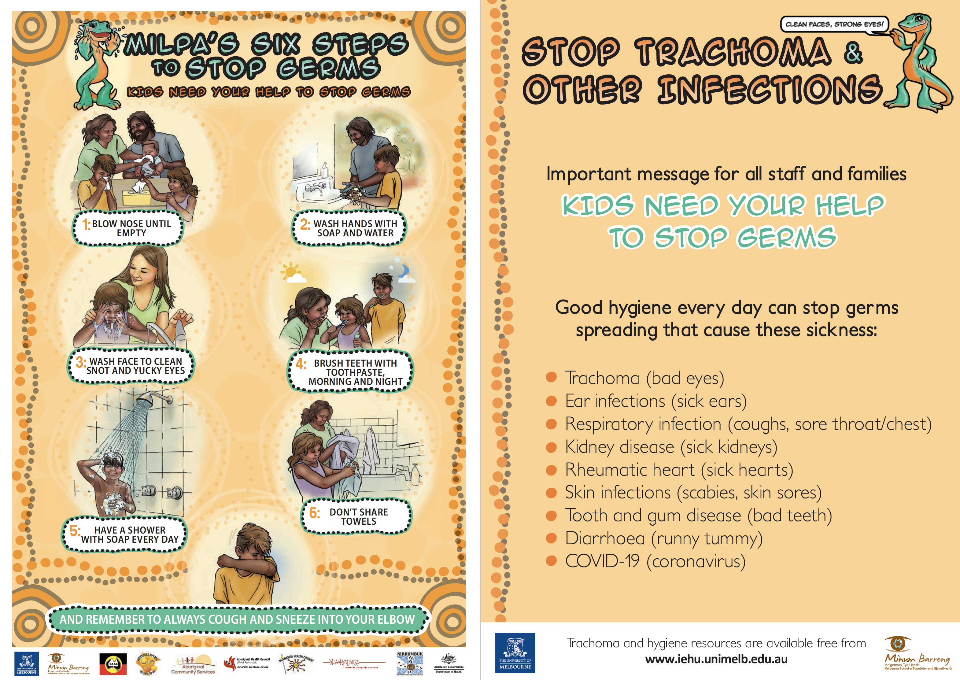 milpas six steps to stop trachoma two sided card