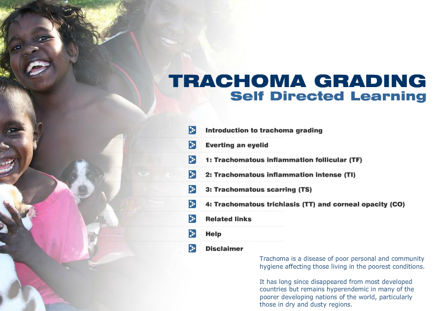 Trachoma self directed training course image