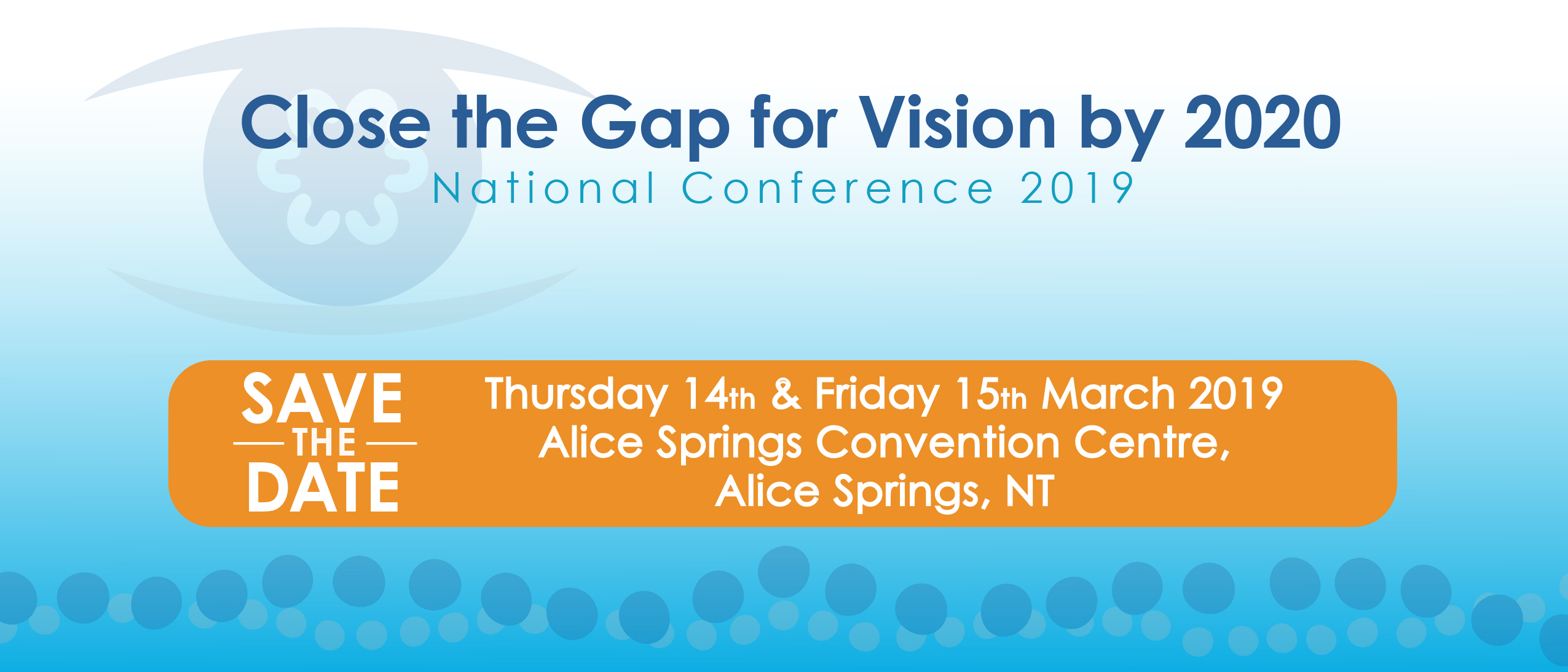 Save the date: Close the Gap for Vision by 2020 National