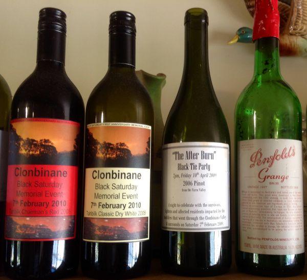 Black Saturday Wine Bottles