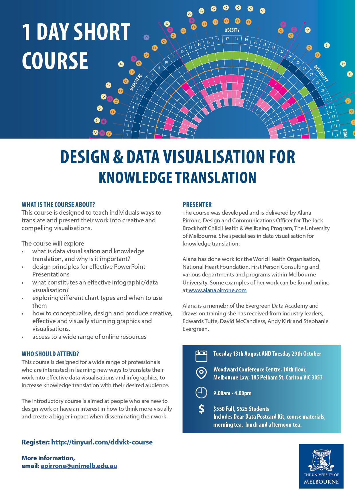 Design and Data Visualisation Short Course Flyer