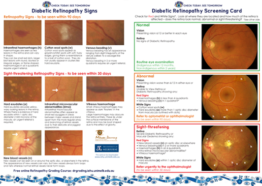 training-DR screening card image