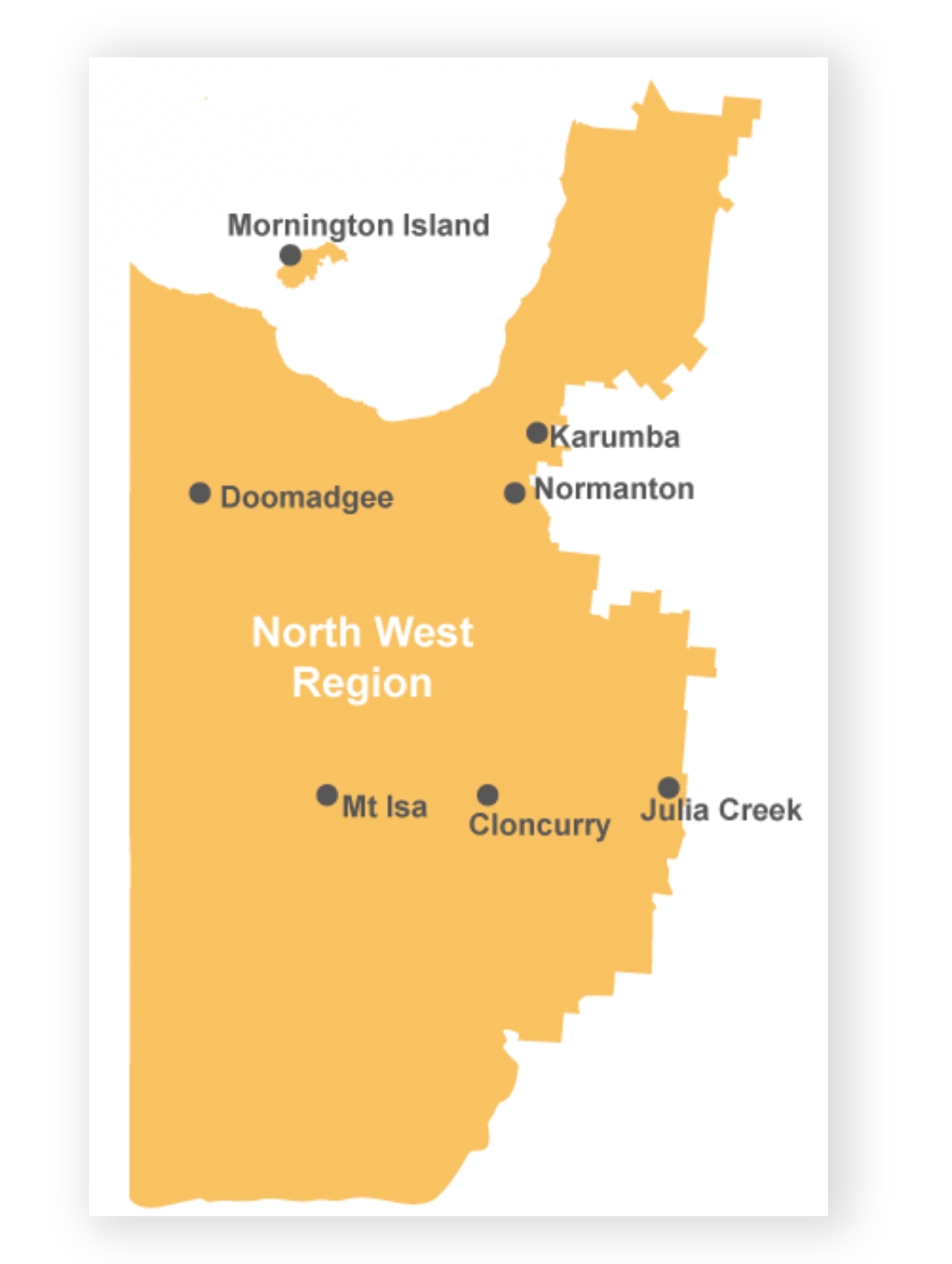 map of north west region