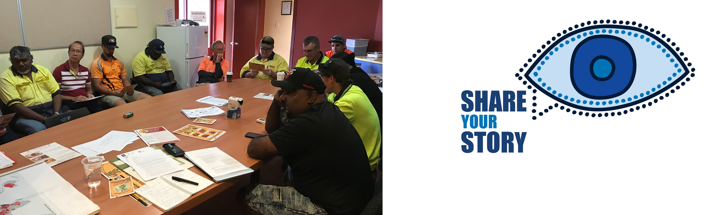 housing maintenance officers learning about trachoma