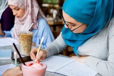 Hijab wearing Students
