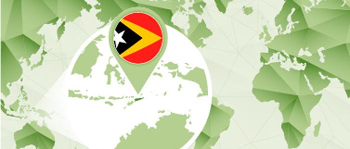 Stylised Map of Timor Leste