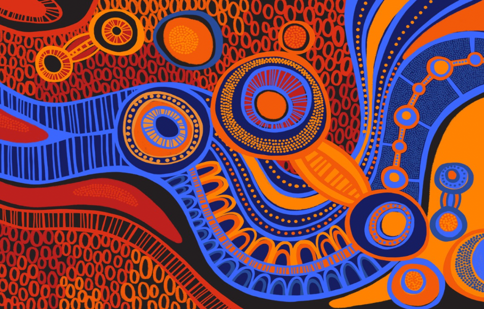 Diabetes Australia's new 'First Nations Storytelling' artwork created by Aboriginal graphic designer and artist Keisha Leon