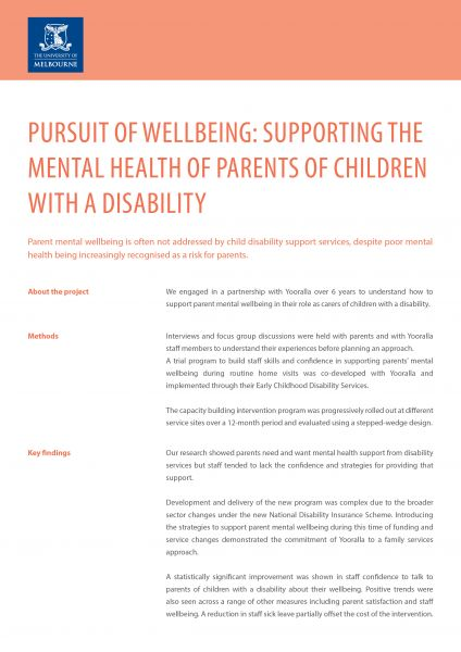 Pursuit of wellbeing summary
