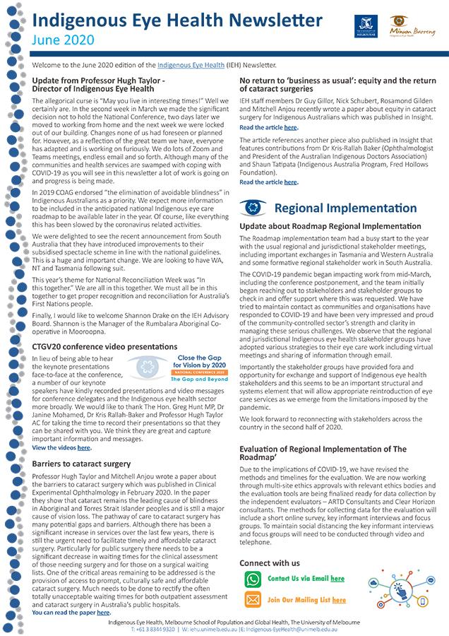 IEH Newsletter June 2020