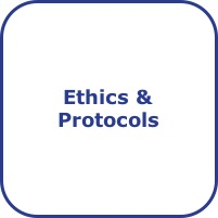 Button labelled Ethics and Protocols
