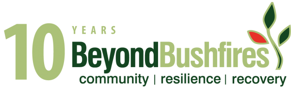 10 years beyond bushfires logo