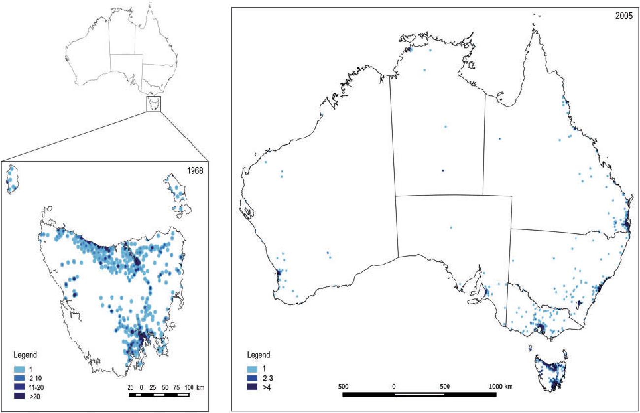 TAHS map distribution of participants